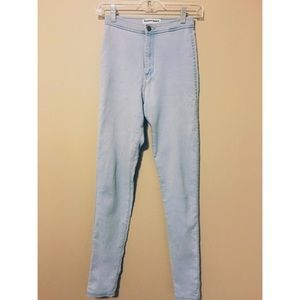 American apparel easy jeans high waisted